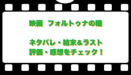 映画  フォルトゥナの瞳のネタバレ!結末&ラストと評価・感想をチェック!