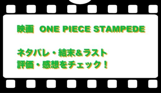 映画  ONE PIECE STAMPEDEのネタバレ!結末&ラストと評価・感想をチェック!