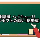 劇場版 ハイキュー!! コンセプトの戦い(総集編)映画動画フル無料視聴!kissanime/anitube/Pandora無料の動画配信サイトを確認!
